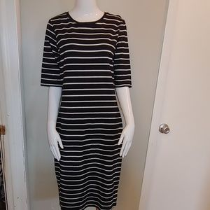 A New Day Black and White Striped Dress